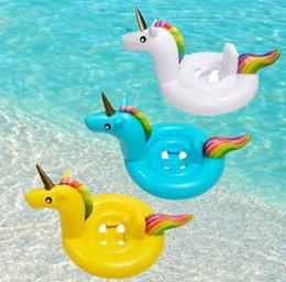 Anneaux De Natation Pour Bébés Pas Cher-Unicorn Baby Swim Ring Natation Float Kids Gonflable Perfect Pool Jouets gonflables Float Swim Ring Bébé Jouets d'été KKA1804