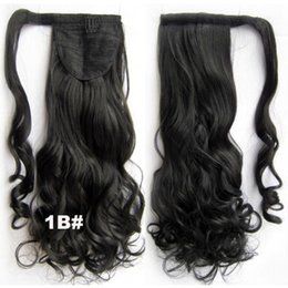 "Chinese  Black brown curly Clip In Pony tail Human Remy Hair Extensions Virgin Brazilian ponytail hair Hairpiece 120g 10""-20"" manufacturers"