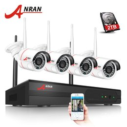 CCtv h 264 Camera wifi online shopping - Anran Plug And Play WIFI CCTV System CH NVR Kit P2P MP P H HD Outdoor IR IP Camera Wireless Surveillance Camera HDD Optional