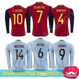 2ede8a5f87e ... football the guardian; 7) belgium long sleeve soccer jersey red home  away hazard de bruyne fellaini kompany lukaku