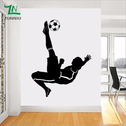 football wall stickers Australia - Large Football Footballer Wall Sticker for kids boys rooms Living room Bedroom decoration Mural wall Art Poster Decal 50*70 cm