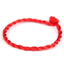 Großhandel Schnelle Lieferung! 100 teile / los KABBALAH HAND Made Red String Armband EVIL Eye Schmuck Kabala Glücksarmband Schutz