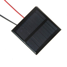 Laptop Sale Factory Canada - Hot Sale Good Quality Mini Solar Panels 5.5V 0.6W Solar Module Cell 65x65MM For Small Power Applianc Toy Panle+15CM Cable Free Shipping