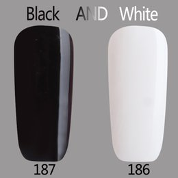Led Gel Lamp Para La Venta Baratos-Venta al por mayor-2017 Gel Polaco barniz UV LED en blanco y negro de color de la serie UV Gel Base Top de la capa UV Lámpara Nail Art Diseño caliente Venta Nail Gel