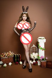 Barato Teddy Transparent-Sexy Lingerie Bunny Gril Open Fork Bonito Trajes Cosplay Coelho Transparente Sex Kimono Outfits Girls Teddies 6647.