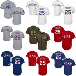mens youth texas rangers 25 jonathan lucroy jersey flexbase cool base baseball jerseys grey white red