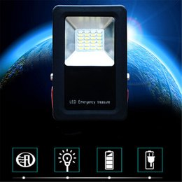 led floodlight emergency rechargeable lamp UK - 10pcs Newest 3 Mode Portable Handheld USB Rechargeable Emergency LED Floodlight Wall Lamp Spot Light with Tripod Power by 18650
