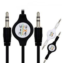 Shields Jack Canada - RETRACKABLE CAR AUDIO 3.5MM AUDIO MALE TO MALE CABLE , FLEXIBLE 3.5MM JACK STEREO AUXILIARY AUDIO CABLE FOR EARPHONE SPEAKER MP3