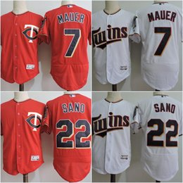 ... 7 Joe Mauer Jersey 2017 Mens Minnesota Twins 22 Miguel Sano Cheap  Authentic Stitched Baseball Jerseys ... 44498a07e