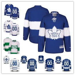 29 Reebok White NHL Jersey Stitched Custom Toronto Maple Leafs mens womens  youth White Green Home Royal Blue 2017 Centennial Winter ... 539d65ea0