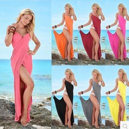 3278c9a0863 Women Fashion Sleeveless Solid Color Cotton Casual Beach Wear Wrap Cover Up  Dress Plus Size S-XL