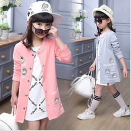 spring jackets for baby girls Canada - Jackets For Girls Cotton Children Jackets Cartoon Long Length Kids Coat For Girls Spring Fashion Casual Baby Clothes For Girls
