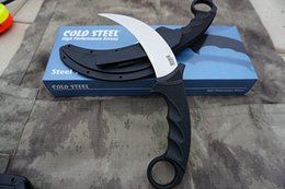 Vg Pocket NZ - Cold Steel Karambit Fixed Blade Knife VG -1 Steel Tigers Claw Tactical Camping Hunting Survival Pocket Knives
