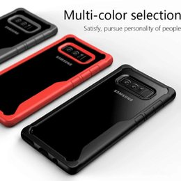 Free Cellphone Cases Australia - CellPhone Cases for Samsung Note 8 Anti Shock Absorption 360 Degree Full Body Protection TPU & TC 1.8mm thin DHL free shipping