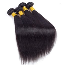 brazilian virgin hair weave UK - Brazilian Straight Virgin Hair Weave Bundles Peruvian Cheap Remy Human Hair Extensions Best Selling Wholesale Hair Products Free Shipping