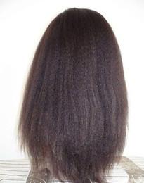 African Kinky Wigs Canada - African hair wig kinky straight lace front wig italian yaki or coarse yaki human hair full lace wigs