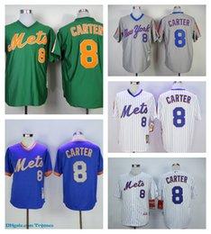 quality design f073e 6e08c new york mets 8 gary carter 1987 gray throwback jersey