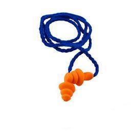 Vente en gros 10pcs oreille en fil de silicone avec des bouchons d'oreille avec protection auditive de protection auditive réutilisable