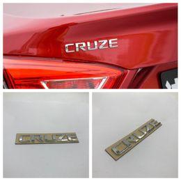 $enCountryForm.capitalKeyWord Canada - 10pcs lot For Chevrolet Cruze Chrome Rear Trunk Emblem Badge Nameplate Car Rear Deck Lid Sticker 95989983