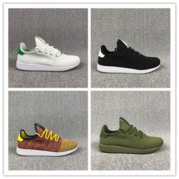 1bd515cf3 New arrive Pharrell Williams x Stan Smith Tennis HU Primeknit men women  Running Shoes Sneaker breathable Boost Runner sports Shoes EUR 36-45