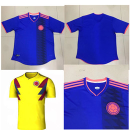 82b402ad0 ... Copa America Soccer Top THailand Quality 2017-2018 WORLD CUP 18 COLOMBIA  National Team Home Away Soccer Jersey ...