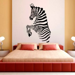 Zebra Stripes Wall Decals African Wild Animals Living Room Wall Stickers  For Kids Bedroom Vinyl DIY Art Mural Part 59