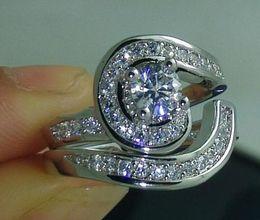 $enCountryForm.capitalKeyWord Canada - Fine NEW shipping Size 6 7 8 9 10 Brand design Fashion jewelry white Topaz 10kt white gold filled Gem Wedding Ring set gift