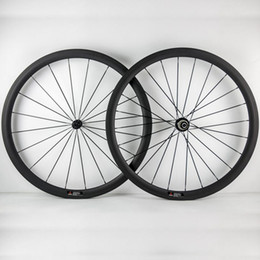 bike wheel set 26 NZ - Powerway R36 Hunbs 700C 38mm Depth 23mm Width Carbon Wheels Tubular Clincher 3K Matt Full Carbon Bike Bicycle Wheelset 20 24 Black Spokes