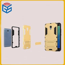 Wholesale 100 inch cell phone case hybrid shockproof kickstand case cover for meizu meilan note for blue charm note free ship