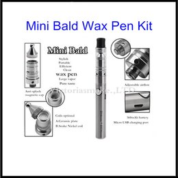 $enCountryForm.capitalKeyWord Australia - DHL Free Mini Bald Wax Dry Herb Pen Kit Ego 510 Thread Wax Attachment Wax Essential Oil Smoking Cartomizer Kit with Micro Charger Battery