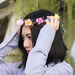 hair 33 2018 - Fashion Bridal Flowers Headwear Princess hair Headbands 33 Colors Wedding Hair accessories Ladies Headwears 30 pcs free