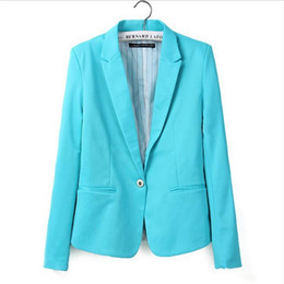 Discount candy button suit - new hot stylish and comfortable women's Blazers Candy color lined with striped suit Free Shipping