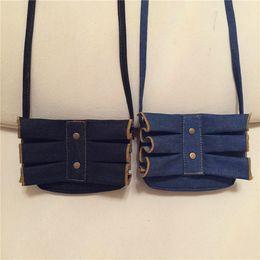 $enCountryForm.capitalKeyWord Canada - 10 pcs lot Children Backpack Inclined shoulder bag Storage bag Denim lace Coin Purser single shoulder Coin Purse Retro lace Cowboy cloth