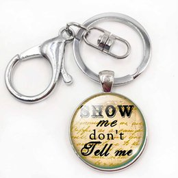 $enCountryForm.capitalKeyWord NZ - Handmade Couples Lover Keychains Round Glass Dome Bag Pendant Love Quote Silver Plated Words Key Rings Chains Holder Gift