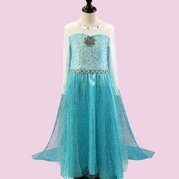 Chinese  frozen Princess dress children's wear children cos Girl dresses summer dress Princess Dresses Fshion Cosplay Clothing manufacturers