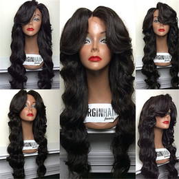 26 Inch Full Lace Canada - Brazilian Lace Front Wig Human Hair Wigs Wavy 180% Density Human Hair Full Lace Wigs 8-26 Inches Human Hair Wigs