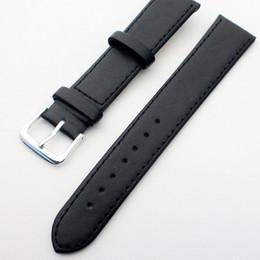 $enCountryForm.capitalKeyWord UK - 8 10 12 14 16 18 20 22mm women men sweatproof Comfortable genuine leather watchband Watch band strap Belt Silver Pin Buckl