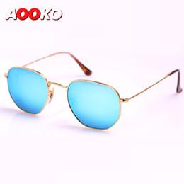 4eabdbfa85d New Sunglasses high quality Hexagonal Metal Sun Glasses irregular  personality Fashion Sunglasses 10 colors pink mercury silver green