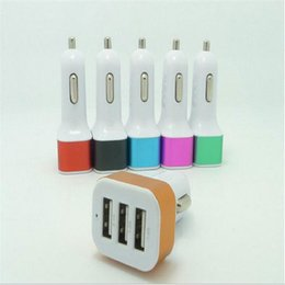 $enCountryForm.capitalKeyWord Canada - 5V 2.1A Mini Portable Dual USB Car Charger Power Adapter With Colorful Aluminum Ring For Smart Phone,Mobile phone With Retail Package