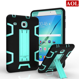 TableT pc sTands online shopping - For Samsung Galaxy TAB E T377 T375 Shockproof Tablet Case Anti Dust Soft Silicon PC Hybrid Coque Stand Cover Cases