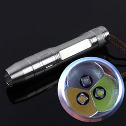 Нержавеющая сталь Мини XPE R5 светодиодный фонарик факел 395 нм УФ-холодный белый теплый белый свет 18650 светодиодный фонарик тест Джейд на Распродаже