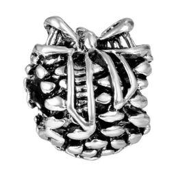 $enCountryForm.capitalKeyWord UK - Fits Pandora Bracelets Mixed 100Pcs Ribbon Grape Beads Silver Safety Chain Charm Bead For Wholesale Diy European Sterling Necklace Women