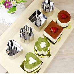 Fruit Cookies Set NZ - Wholesale- Cake Mould Baking Pastry Stainless Steel Cookie Fondant Cheese Pan MoussesDessert Bakeware Molds Fruit Cutter Tool EJ878400