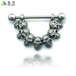 women skull rings NZ - Promotion! DIY New Arrival Wholesale High Quality Fashion Metal Black Silver Skull Belly Button Rings For Women Body Jewelry