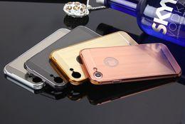 Acrylic Brush Case Canada - Case For Apple Iphone 7 4.7inch Brush Acrylic Back Cover & Aluminum Metal Frame Set Phone Bag Fundas+TPU Anti-Knock
