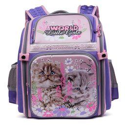 $enCountryForm.capitalKeyWord Canada - 2017 NEW Fashion Cartoon cat Prints High Quality Waterproof nylon School Bags For Teenager Girls Orthopedic Backpack Style book bag For kids