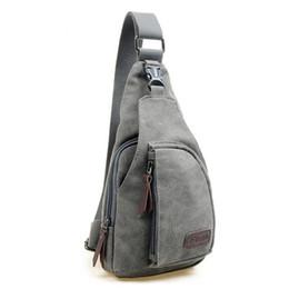 cross bags for girls 2018 - Crossbody Chest Bag Men Handbags Vintage Canvas Chest Packs Retro Sling Bags Zipper Shoulder Solid Beach Bag For Short T