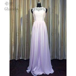 a0647398e28 Ghands Cheap JJShouse A-Line Lace Chiffon Bateau Floor-Length Wedding Guest  Plus Formal Gowns Bridesmaid Elegant Dresses Custom Size Color
