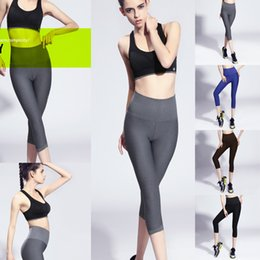 294e7af887 Capris for Women Sexy Lady Sports Clothes Slim Fitness Gym Yoga Pants  Summer Fashion Cropped Trousers Mix Color Hot Sale