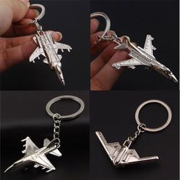 $enCountryForm.capitalKeyWord Canada - Airplane Aeroplane Model Metal Keychain Key Chain Ring, Plane Warplane keyring Holder For Military Fan Souvenirs